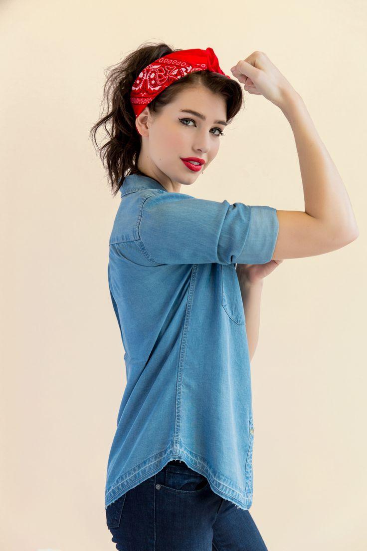 Rosie the Riveter - DIY Halloween Costume