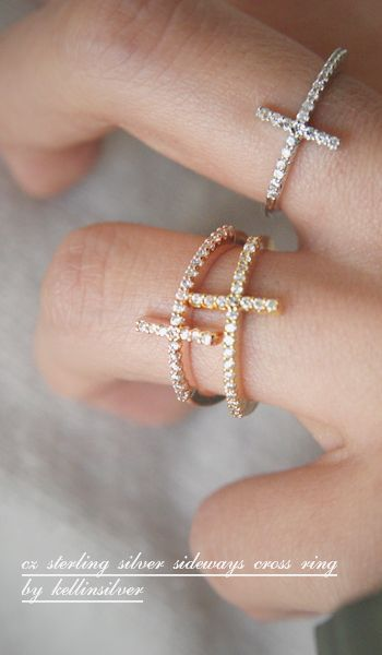 Love these cross rings! Would make a great gift for a girls first communion or perhaps for a purity ring. |Jewelry - Daily Deals|