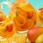 Sparkling Mango Strawberry Sangria--ADD ALCOHOL! ;)