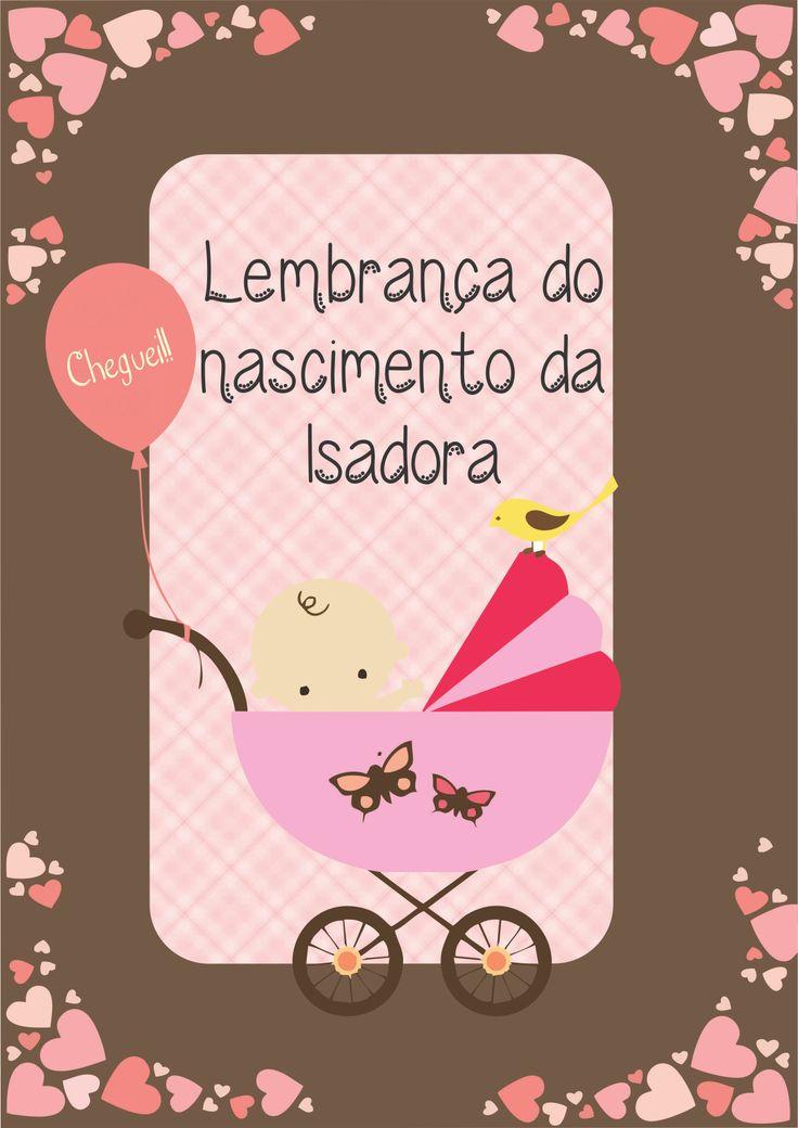 Lembrança de maternidade- Isadora