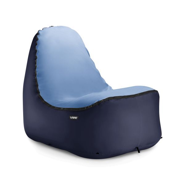 Weighing just under two pounds and packing down smaller than a bag of tortilla chips, the Trono Chair inflates with just a flick of the wrist to create one