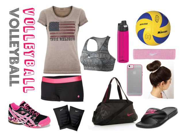 Volleyball by babedirectionerx on Polyvore featuring polyvore fashion style  True Religion Roxy NIKE Asics Mikasa ASOS