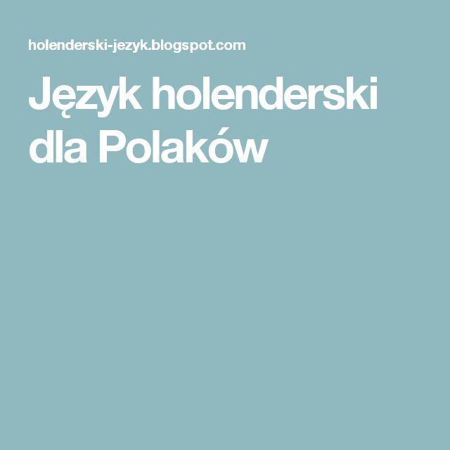 Język holenderski dla Polaków