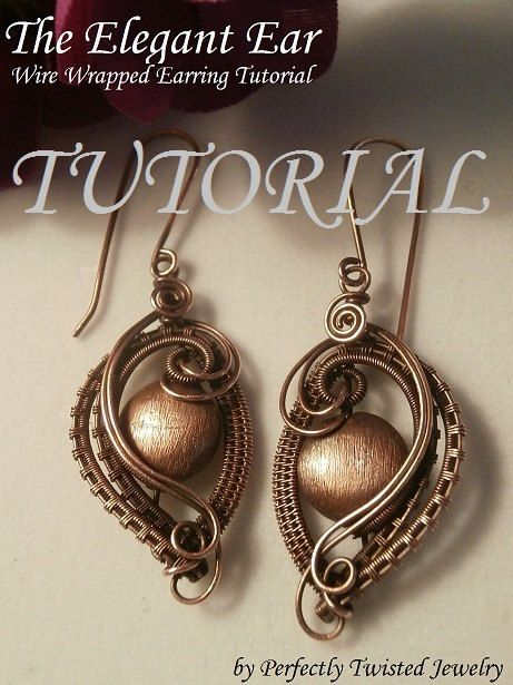 Pay for-Wire Wrap TUTORIAL, Wire Wrapped Earrings, The Elegant Ear, Wire Jewelry Pattern, Making Wire Jewelry
