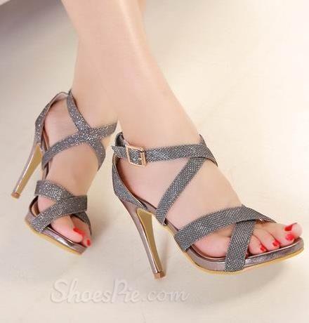 Ravishing PU Cut-Outs Gladiator Sandals