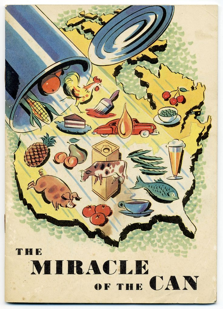 The Miracle Of The Can // Cover of an 1952 American Can Co marketing brochure