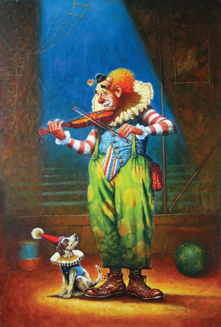 plus de 1000 id es propos de clown art sur pinterest clowns peintures l 39 huile et catalogue. Black Bedroom Furniture Sets. Home Design Ideas