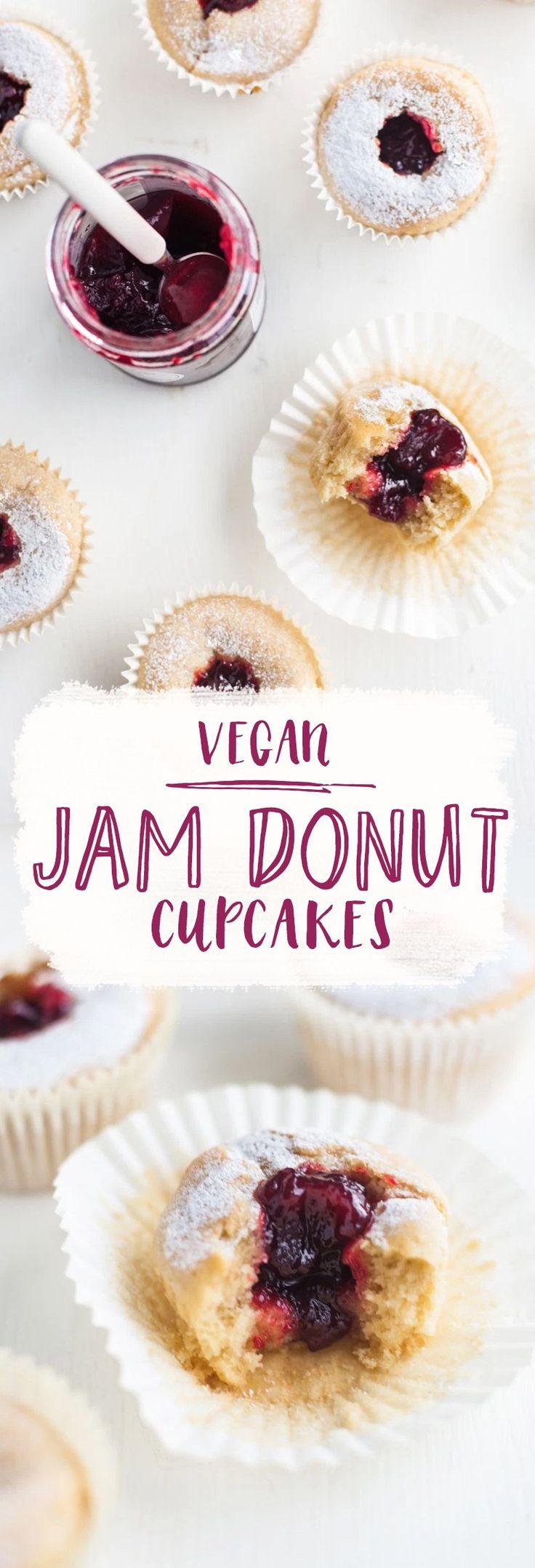 Vegan Jam Donut Cupcakes