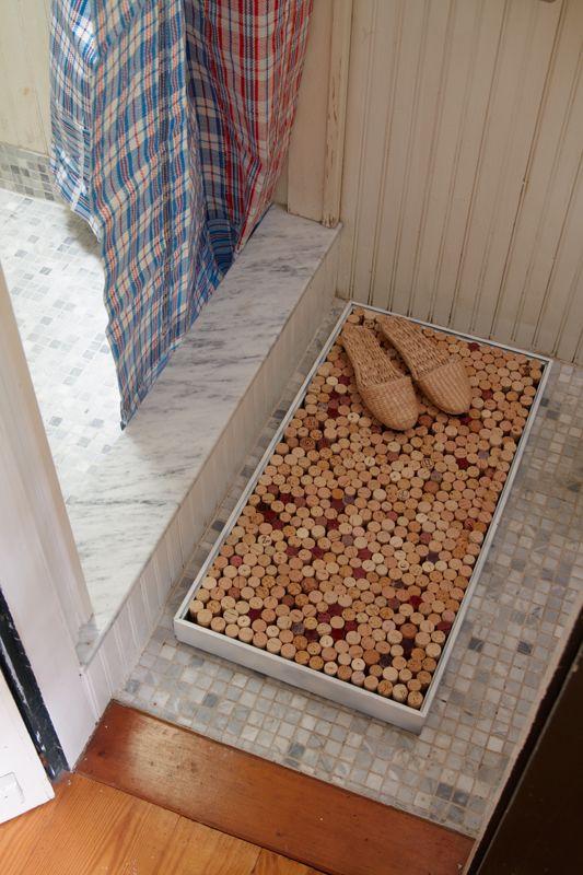 cork foot mat