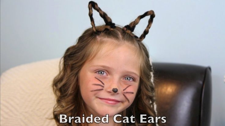 This would be great for crazy hair day! Braided Cat Ears | Halloween Hairstyles | Cute Girls Hairstyles