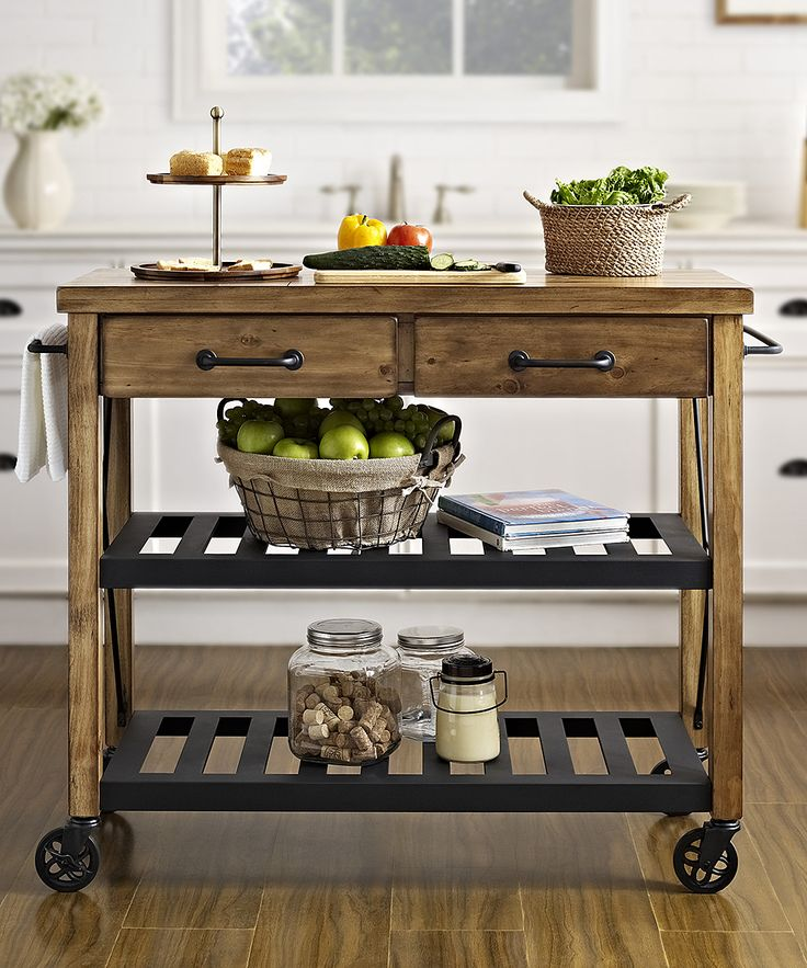 crosley roots rack industrial kitchen cart 33999 retail 52900 zulily - Kitchen Side Tables