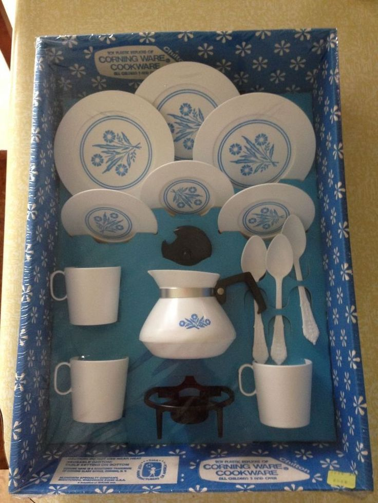 Vintage 1960'sToy Corning Ware kid's cookware, new in package #CorningWare I remember getting these from Santa! :)