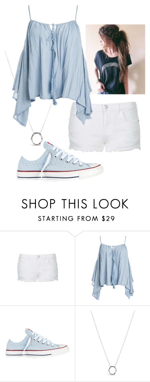 """""""Random #174"""" by pigfartsandcandycorn ❤ liked on Polyvore featuring Topshop, Sans Souci, Converse and Dinny Hall"""