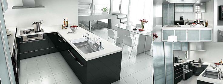 オープン対面キッチン センターキッチン・収納タイプ ペニンシュラL型 奥行97cm 間口273.5×212cm
