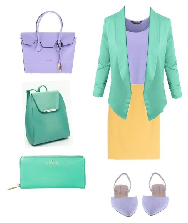 """""""сиреневый color"""" by nika-nikolaevna on Polyvore featuring Lands' End, Max&Co., LE3NO, Coccinelle and Kate Spade"""