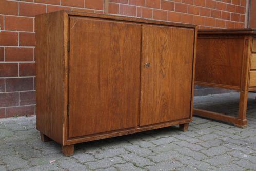 30er 40er Jahre Kommode Schrank Vollholz Sideboard Bauhaus