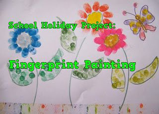 A Pretty Talent Blog: School Holiday Project: Fingerprint Painting