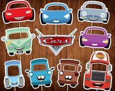Printable Cars Photo Booth Props - Disney Cars Party Masks - Cars Birthday Props - Printable PDF - Disney Cars Characters - Kids Party Decor