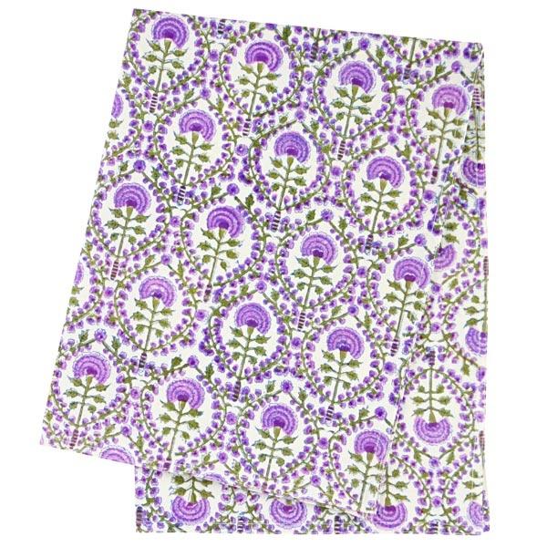 DAHLIA PURPLE tea towel $14.95