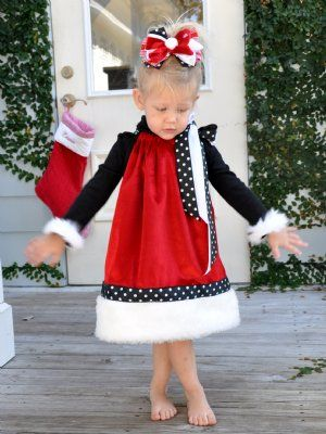 New! Santa Baby Christmas Pillowcase Dress Red Dress with White Fur ...300 x 400 | 33.3 KB | www.cassiesclosetinc.com