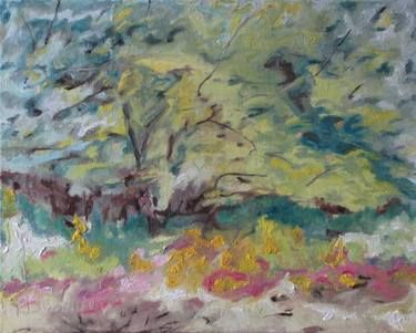 "Saatchi Art Artist Francois Fournier; Painting, ""Art Plein Air Landscape Oil Painting Original Impressionist Abstract Orchard Quebec Canada By Fournier ""The Apple Tree In August"" #art"