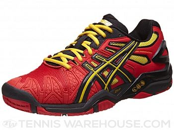 Asics Gel Resolution 5 Red/Bk/Yellow Men's Shoes. Just got these!