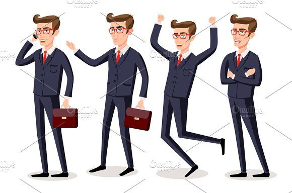 business men and woman vector by Rommeo79 on @creativemarket