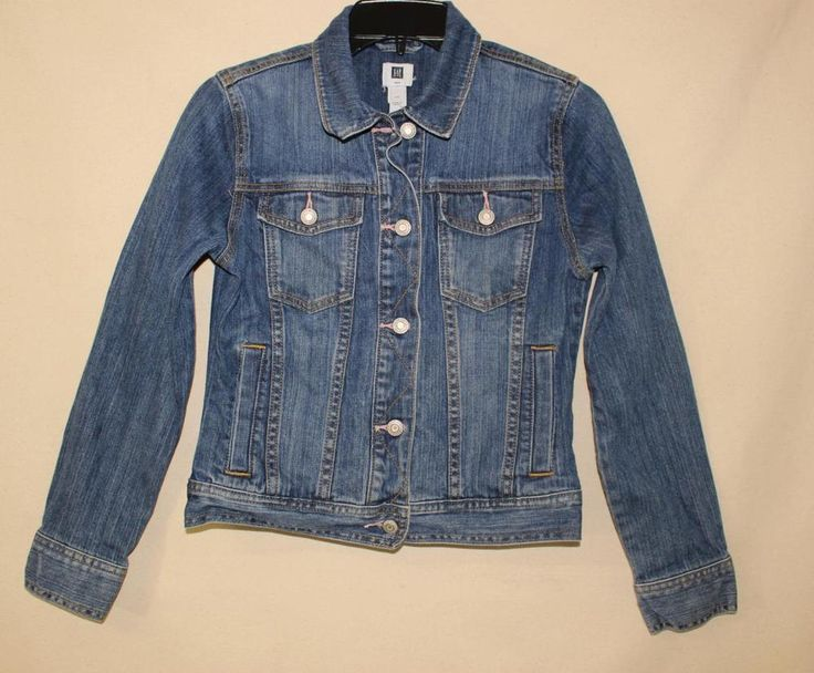 KIDS GAP DENIM JEAN JACKET SIZE XXL BUTTON FRONT JACKET BUTTONS GAP CLOTHING #GAP