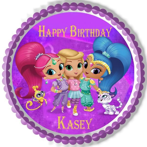 Shimmer And Shine 2 Edible Birthday Cake Topper OR Cupcake
