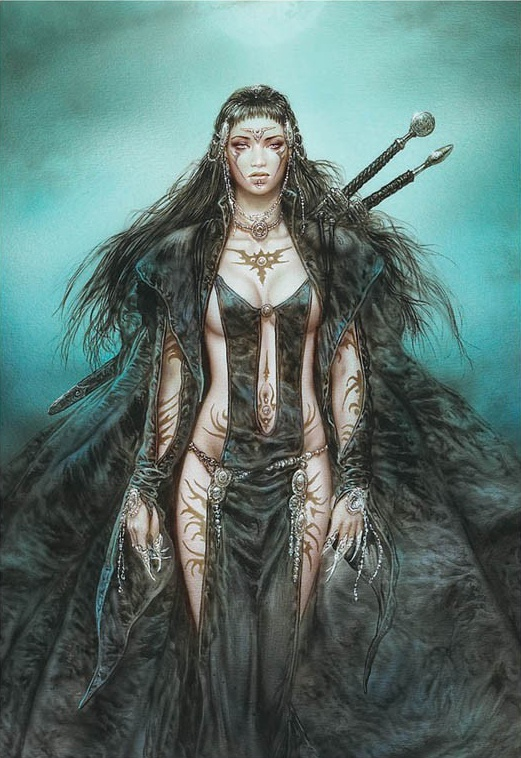 Luis Royo: The Daughter of the Moon - 1000pc Jigsaw Puzzle by Educa http://www.seriouspuzzles.com/i8549.asp #gothic