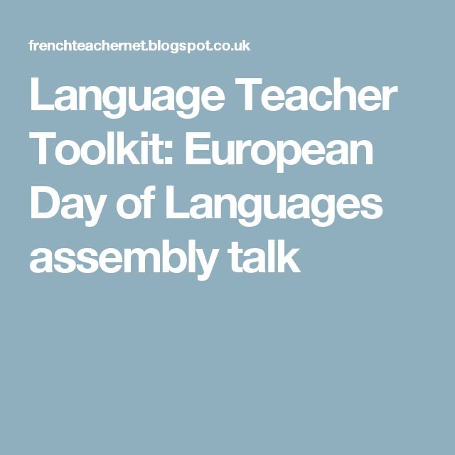 Language Teacher Toolkit: European Day of Languages assembly talk