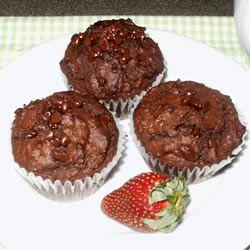 Chocolate Chocolate Chip Muffins Allrecipes.com