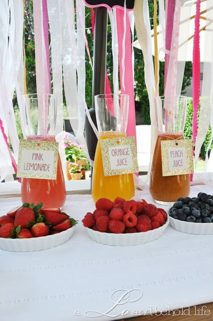 Pink & Gold Sip and See.  Mimosa Bar!