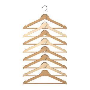 IKEA BUMERANG Gantungan baju dari kayu isi 8