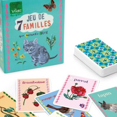 The Nathalie Lete happy families card game combines this classic game with Nathalie Lete's gorgeous illustrations featuring families from the natural world.