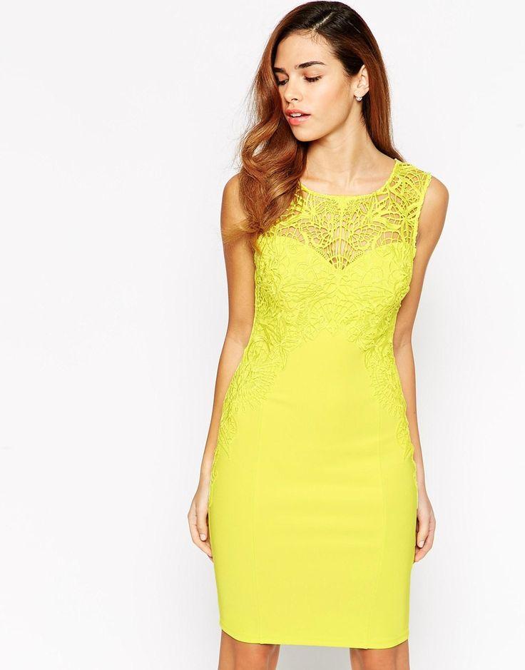 Lipsy Lace Applique Dress