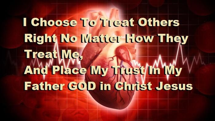 (John 15: 9-17) Loving others with Christ Jesus' Love. (1st Peter 4: 8-10) Have fervent, covering, Love for one another. (Romans 12: 9-21) Treat others rightly, with compassion, and rejecting evil.  (1st Corinthians 13: 1-13) Love compassionately, placing others before yourself, in sincere Truth, with Love that never fails and endures forever. (1st John 3: 23-24 & 4: 11-21) GOD is Love, and we are instructed by Him to share His same Love, amen.