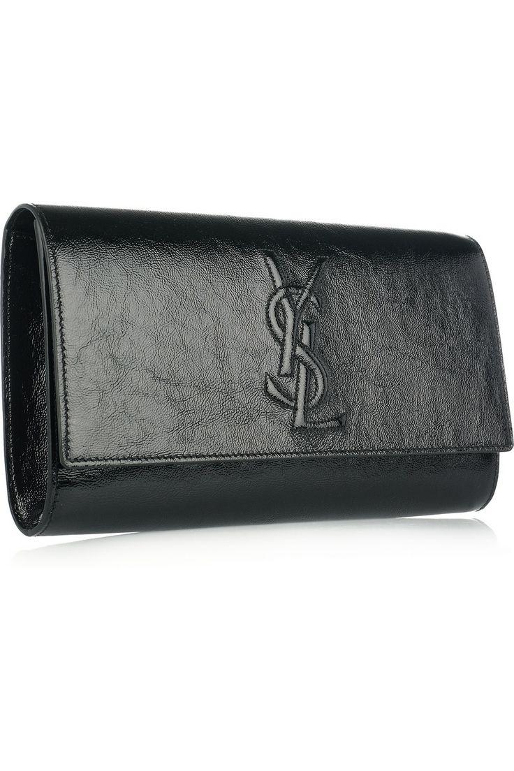 Yves Saint Laurent   The Belle de Jour patent-leather clutch   NET ...