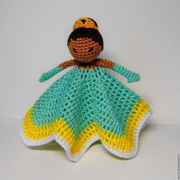 Купить Платочная игрушка - ПРИНЦЕССА ТИАНА. - ярко-зеленый, брелок для ключей, брелок на сумку