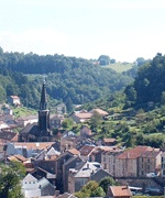 Situated in the Vosges (East of France): Plombières les Bains.