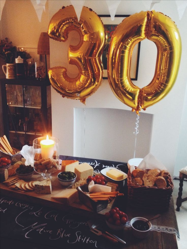 30th Birthday Party ♡ Cheese and Wine, Party Ideas and Style