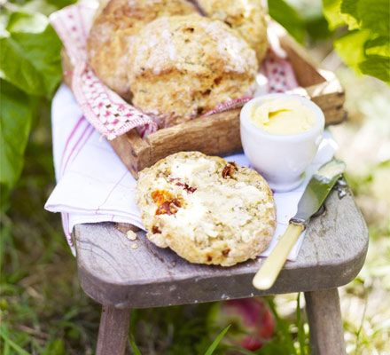 These craggy bread buns use bicarbonate of soda instead of yeast - serve with plenty of butter or top with soft cheese