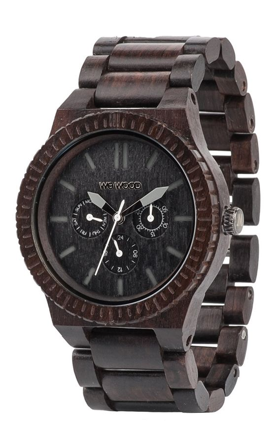 The WeWOOD Kappa Black is a beautifully designed large face watch made from recycled African Blackwood. The watch features a large multi function  ...