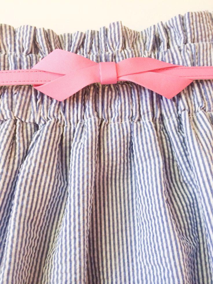 Lilly Pulitzer belt and seersucker skirt