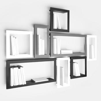 Exploitez habillement votreespacepar ces étagères STICK en tôle laquée. Des casiers cubiques suspendus pour ranger vos livres. Rangement spacieux pour un mini encombrement.Vendue à l'unité.3 couleurs différentes.