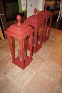 My Historic Country Home: DIY Wooden Exterior Christmas Lanterns!! I would make them in white for summer use.