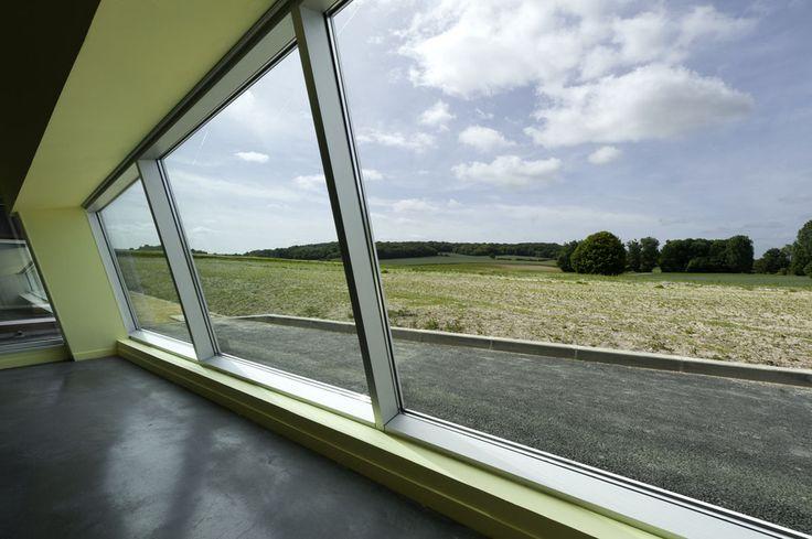 Vue des salles d'expositions sur le paysage Picard