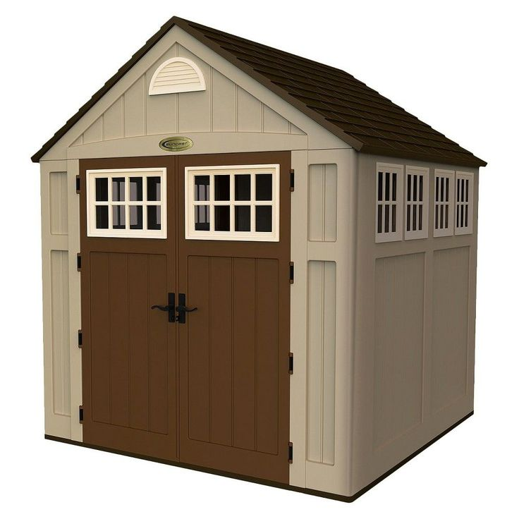 resin storage shed 75 x 7 x 85 taupe brown suncast