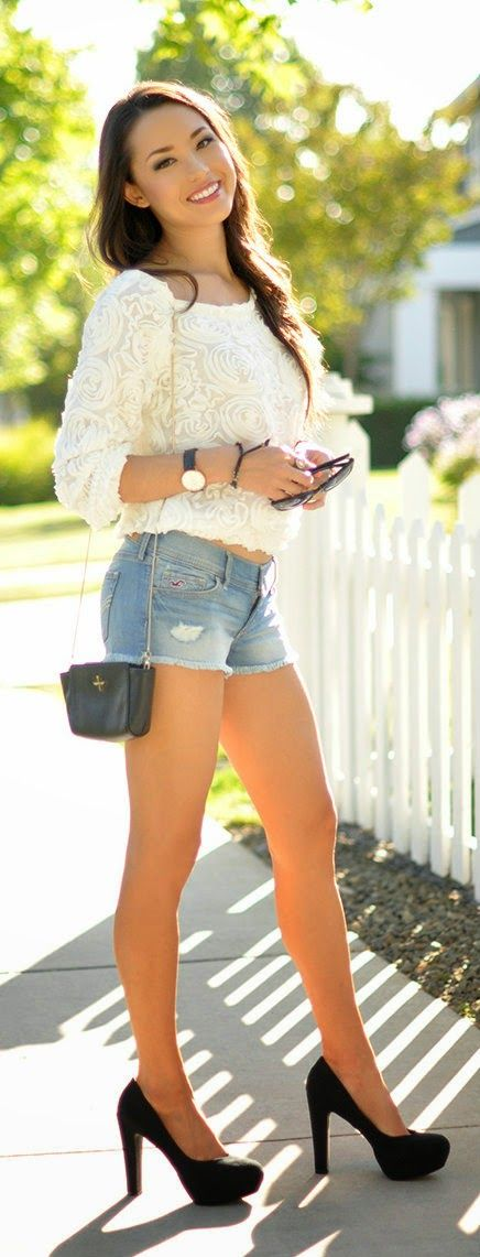 67 best Short Shorts and High Heels images on Pinterest