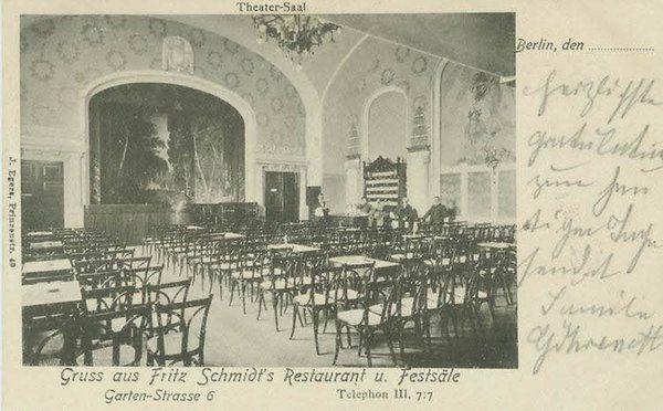 Tanzlokal und Theatersaal: Der letzte Vorhang fiel im Jahr 1934. Kolibri-Festsäle, Gartenstr. 5